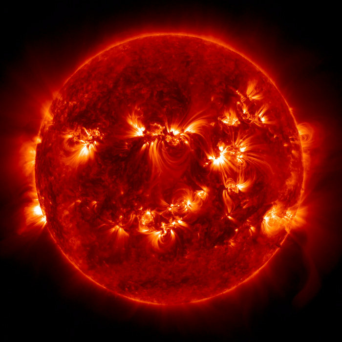 The sun regularly shoots particles into space. The resulting