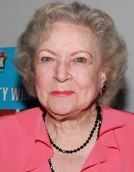 Actress Betty White attends the opening of Pink's Hot Dogs and the unveiling of the Betty White 'Naked' Hot Dog at Pink's Universal CityWalk on April 19, 2010 in Universal City, California.