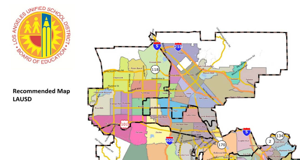 Detail of new LAUSD map