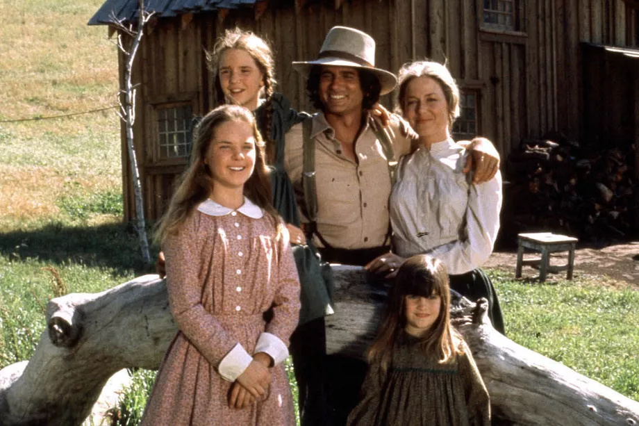 The cast of NBC's the Little House on the Prairie television show.
