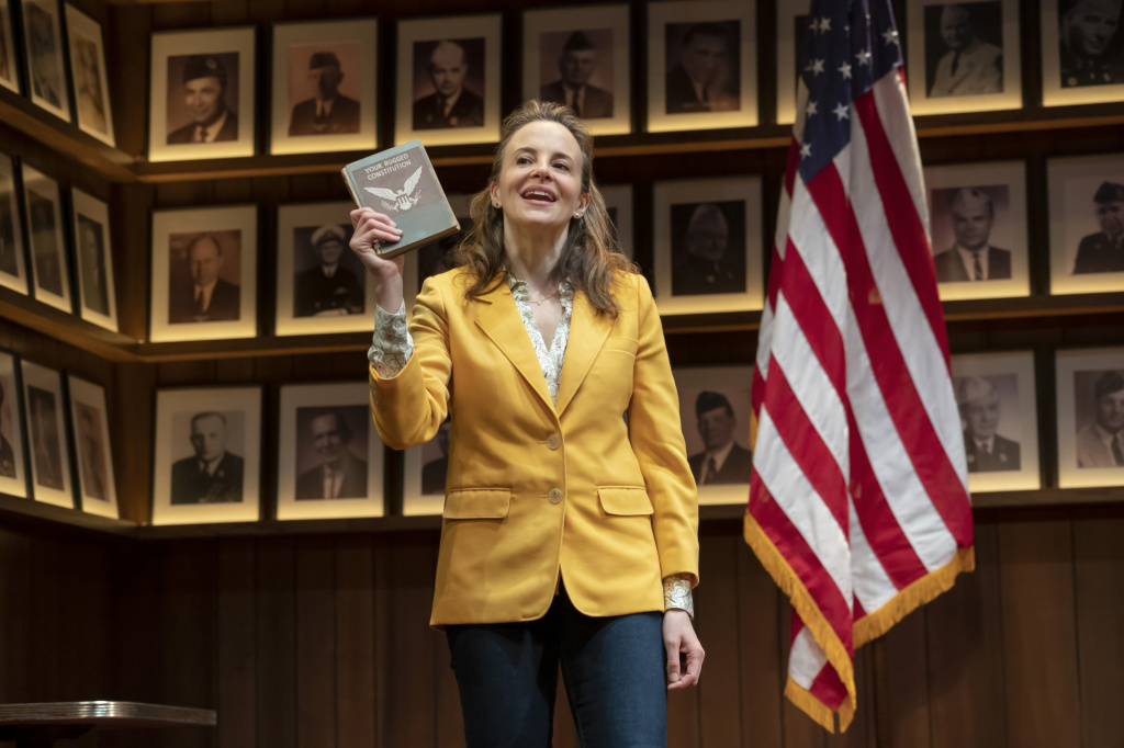 "Maria Dizzia in the national tour of ""What the Constitution Means to Me."" Written by Heidi Schreck and directed by Oliver Butler, at the Mark Taper Forum."
