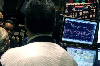 New York Stock Exchange on May 25, 2010. What will the monitors show if the government defaults on its debt?