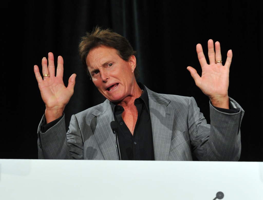 TV personality Bruce Jenner speaks onstage at the Reality Rocks Expo Fan Awards at the Los Angeles Convention Center on April 9, 2011 in Los Angeles, California.