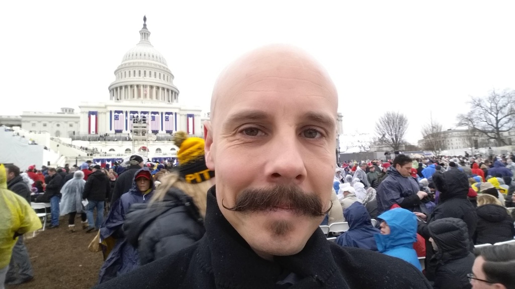 JANUARY 20, 2017 - Ben Clymer Jr., chief financial officer of the Body Shop & Collision Centers of Southern California, in D.C. for the inauguration.