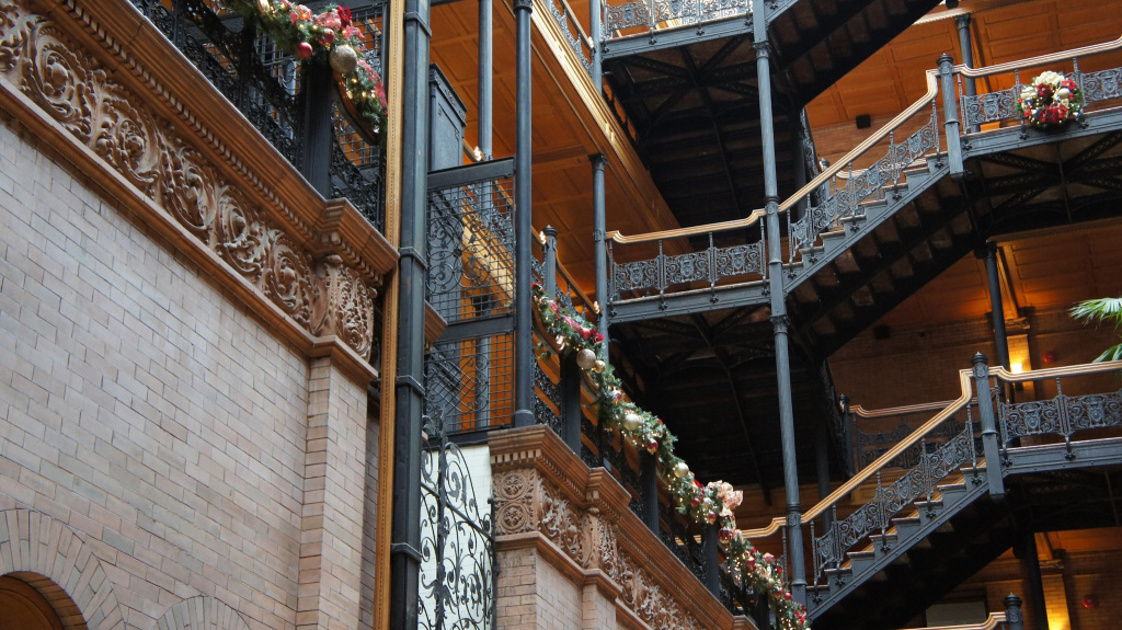 Interior of the Bradbury building.