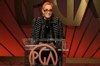 Producer Laura Ziskin, winner of the Producer's Guild of America's 2011 Visionary Award, spoke onstage during the 22nd Annual Producers Guild Awards at The Beverly Hilton hotel on January 22, 2011.