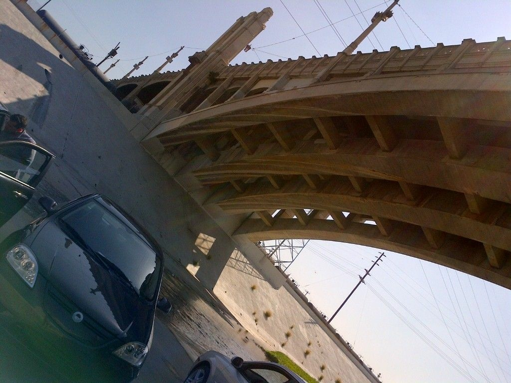 A test drive took the CODA fleet to the historic L.A. River.