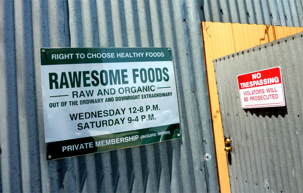 Rawesome food collective was raided by authorities and shut down earlier this month.
