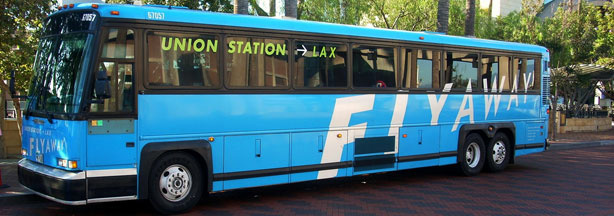 FlyAway bus at Union Station