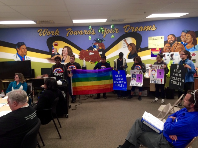 Santee Education Complex's Gay-Straight Alliance club started a three-month campaign called