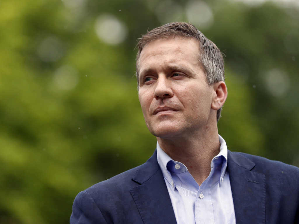 Eric Greitens, pictured earlier this month, announced his resignation Tuesday as governor of Missouri. The Republican, who is facing an extramarital affair scandal and allegations of campaign finance violations, will step down effective June 1.