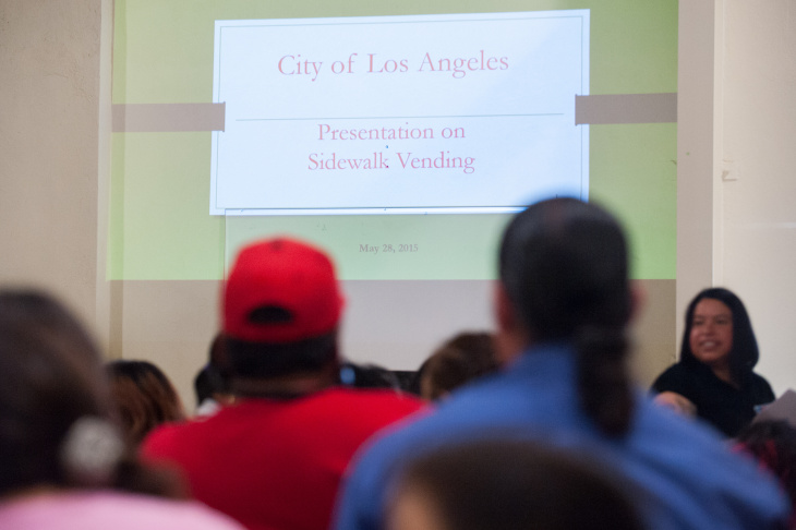A public hearing on the future of street vending in Los Angeles was held on Thursday, May 28, at Boyle Heights City Hall.