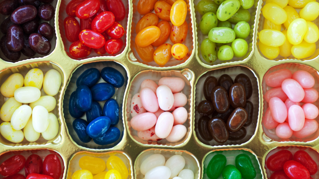 File: Jelly Belly says its most popular flavors include the savory-sweet Buttered Popcorn and Very Cherry.