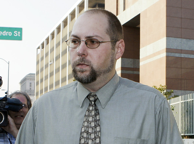 Christopher Chaney, 35, of Jacksonville, Fla., leaves federal court in Los Angeles on Nov. 1, 2011. Chaney has agreed to plead guilty to hacking into the email accounts of celebrities such as Christina Aguilera, Mila Kunis and Scarlett Johansson, whose nude photos eventually landed on the Internet, according to court documents filed Thursday, March 22, 2012.  Long before Christopher Chaney made headlines by hacking into the email accounts of such stars as Scarlett Johansson and Christina Aguilera, he honed his craft at the expense of two women who say he harassed them and stalked them online.
