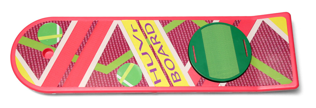 A HUVr hoverboard, styled after the