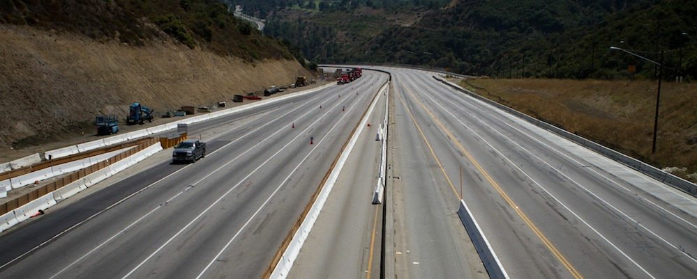 The 405 freeway during Carmageddon.