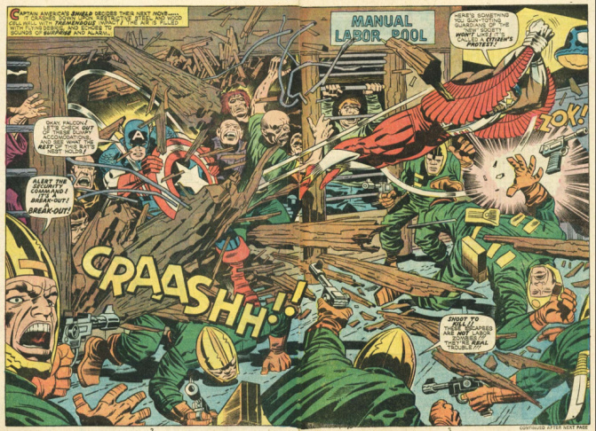 Jack Kirby art from the Fantastic Four.