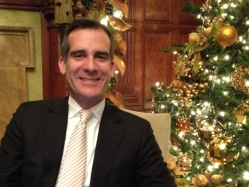 Garcetti met with President Obama and Vice President Biden to talk about transportation and the LA River