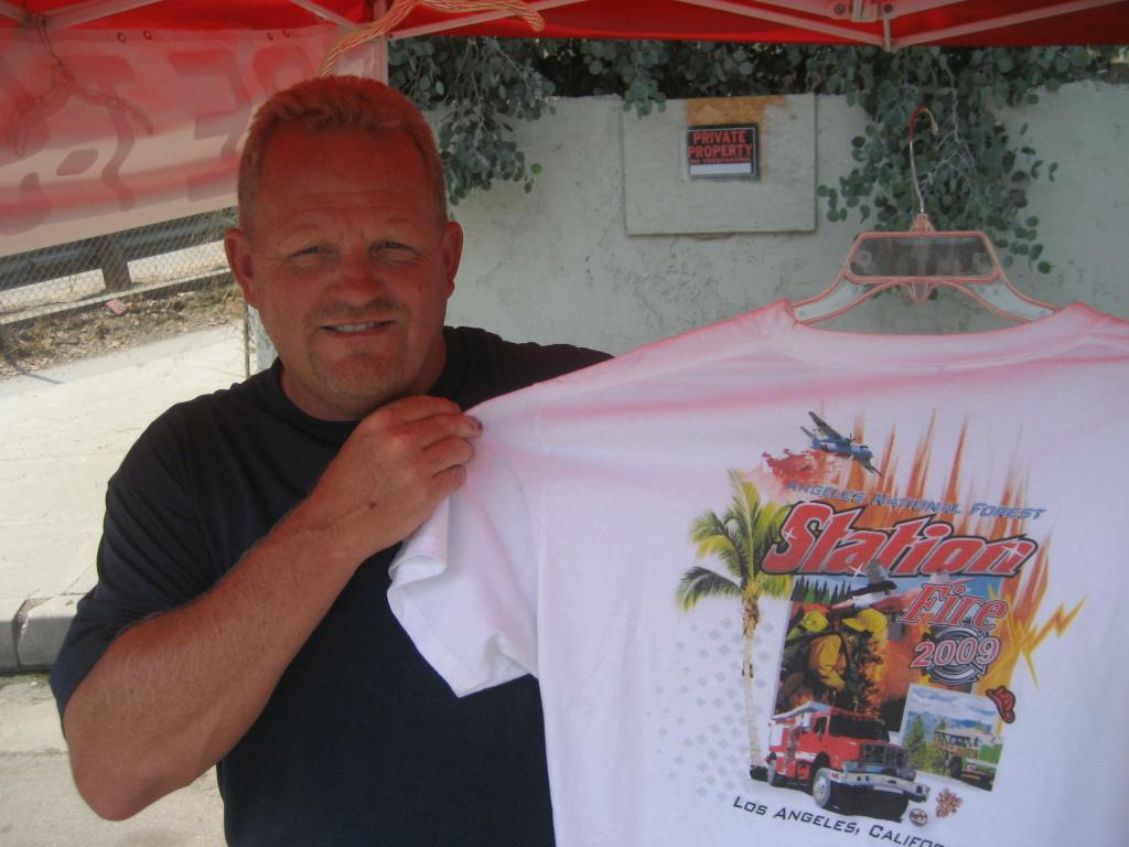 Station Fire T-shirt vendor Mark Halverson