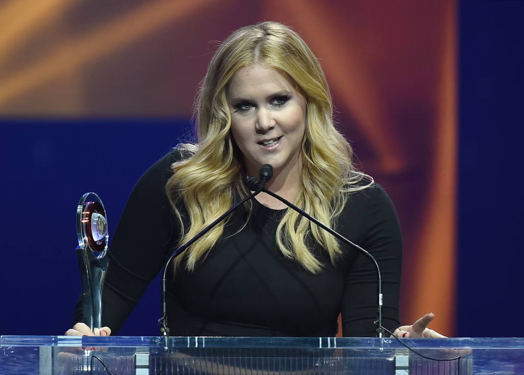 Actress/comedian Amy Schumer accepts the Breakthrough Performer of the Year Award during The CinemaCon Big Screen Achievement Awards at Caesars Palace during CinemaCon on April 23, 2015 in Las Vegas, Nevada.