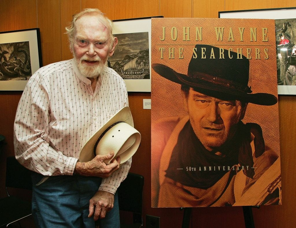 Actor Harry Carey, Jr. attends an Academy of Motion Picture Arts and Sciences special 50th anniversary screening of 'The Searchers' at the Academy of Motion Picture Arts and Sciences on June 23, 2006 in Beverly Hills, California.