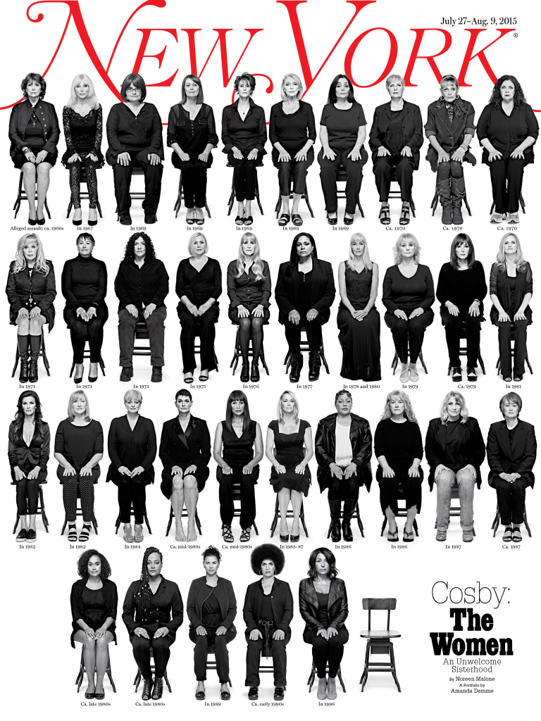 The July 27-August 9 issue of New York magazine features 35 women who have accused Bill Cosby of rape or sexual assault.