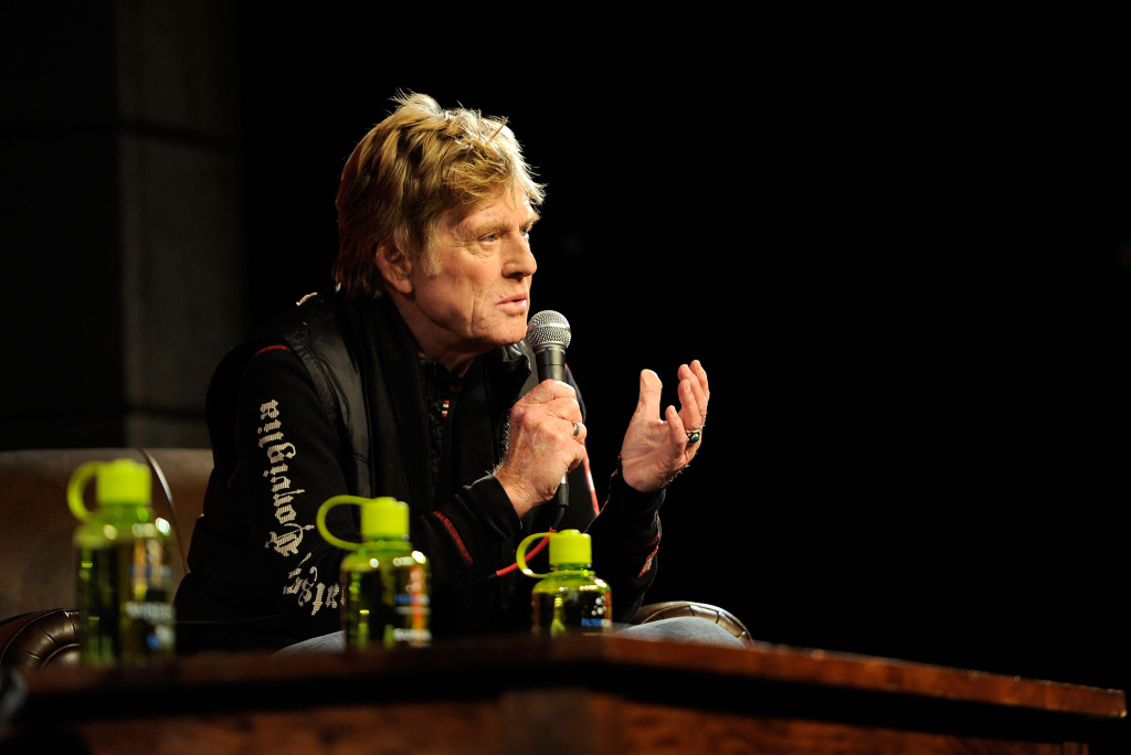 Sundance Institute president and founder Robert Redford speaks at the opening day press conference held at the Egyptian Theatre during the 2012 Sundance Film Festival on January 19, 2012 in Park City, Utah.