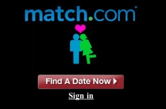 Match.com's mobile login page.