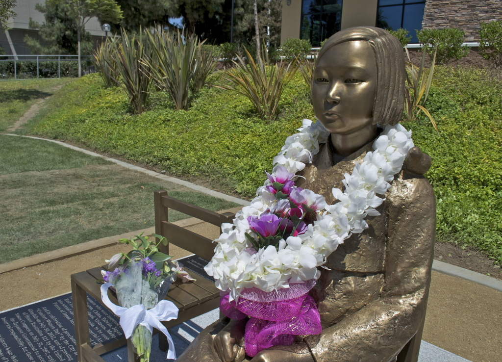 A statue commemorating the sexual slavery of women by the Japanese army in World War II was publicly unveiled in July 2013 in Glendale.