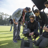 Director and executive producer Gaz Alazraki on set at Netflix's first original Spanish-language series, Club De Cuervos.