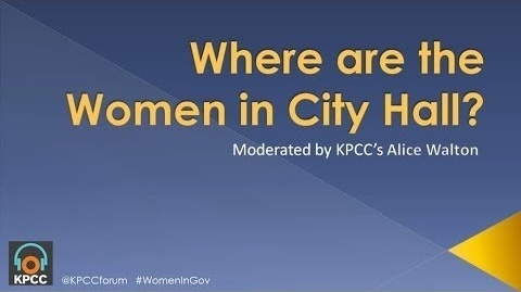 Where are the Women in City Hall?