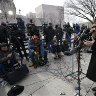 Sen. Rand Paul, R-Ky., in front of the federal district court in Washington, where he filed his lawsuit against the Obama administration and the NSA.