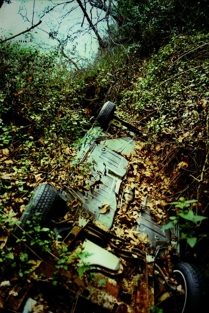 One Source Auto >> Take Two® | Picture This: The eerie auto graveyard below Mulholland Drive's 'Dead Man's Curve ...