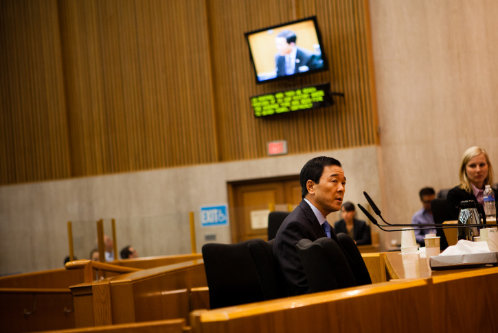 File: Then-Undersherrif Paul Tanaka testifies in front of the Citizens Commission on Jail Violence on Friday, July 27, 2012.