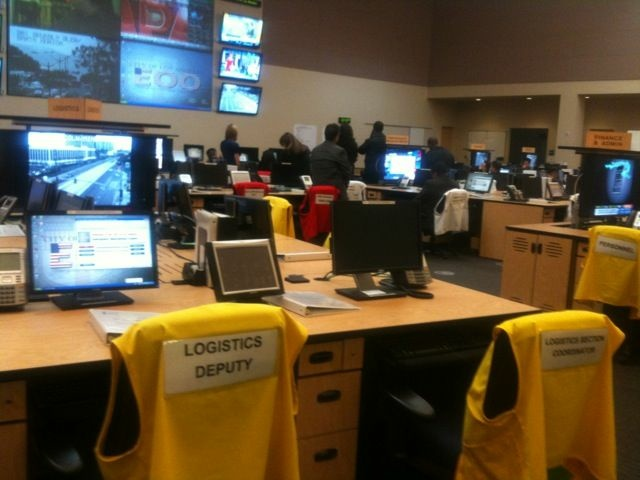 The Emergency Operations Center in downtown Los Angeles