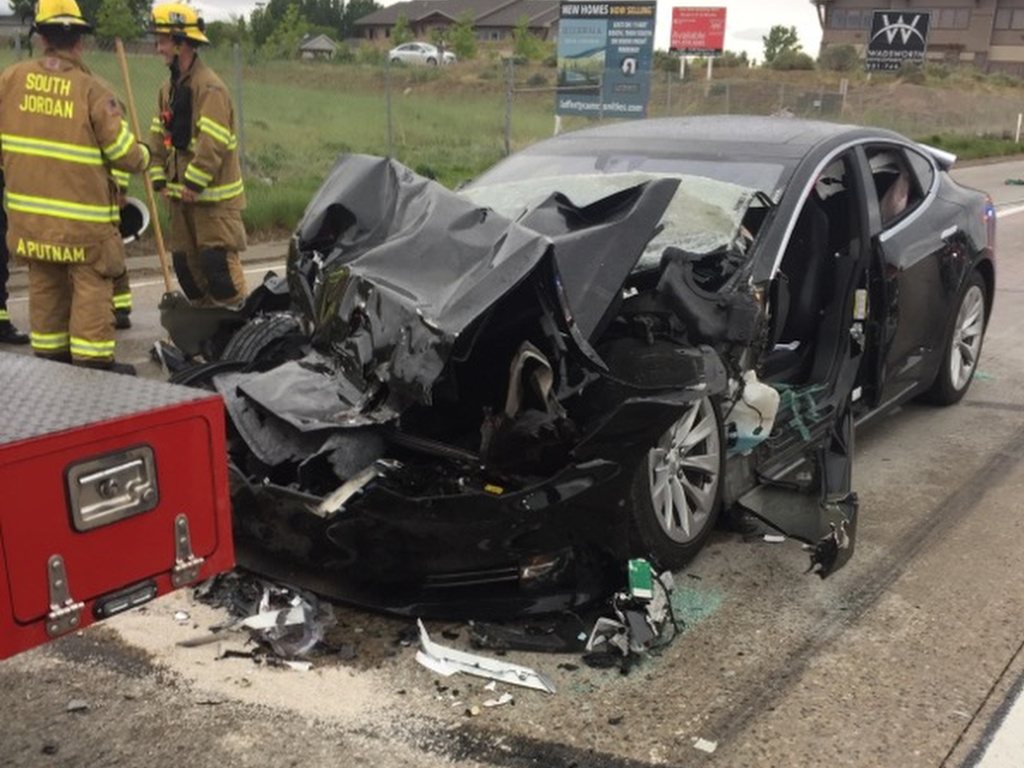The driver of the Tesla Model S told police the car was in Autopilot mode as it rammed into a Utah fire department truck on May 11 in South Jordan, Utah.