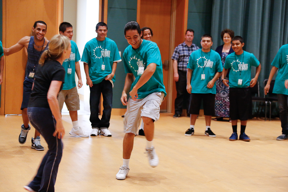Students rehearse for the Segerstrom Center's 22nd annual Summer at the Center performance.