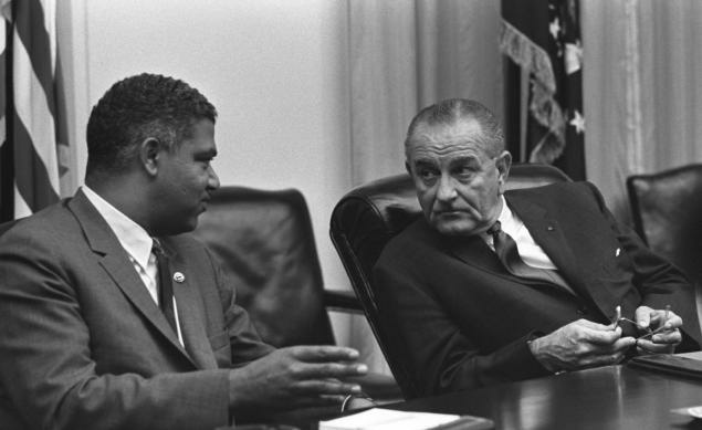 Whitney Young and President Lyndon Johnson, from the PBS documentary, ' 'The Powerbroker'