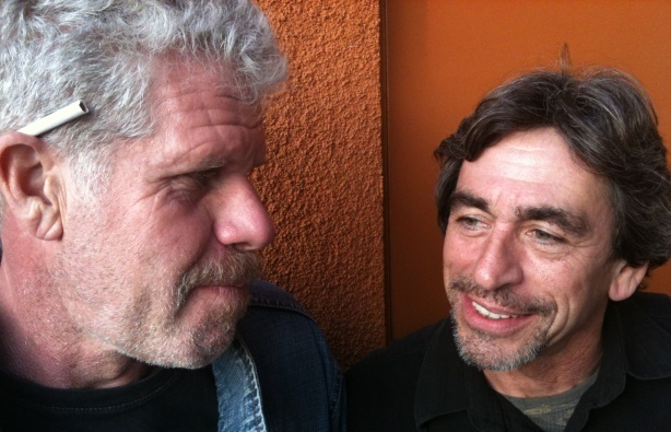 Ron Perlman and Nameer El-Kadi at the Mohn Broadcast Center, 1/19/2011.