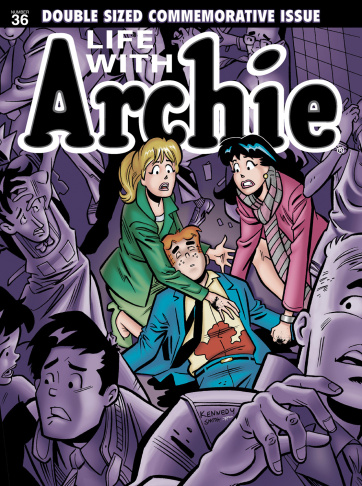 This comic image released by Archie Comics shows characters from the Archie's comic book series.