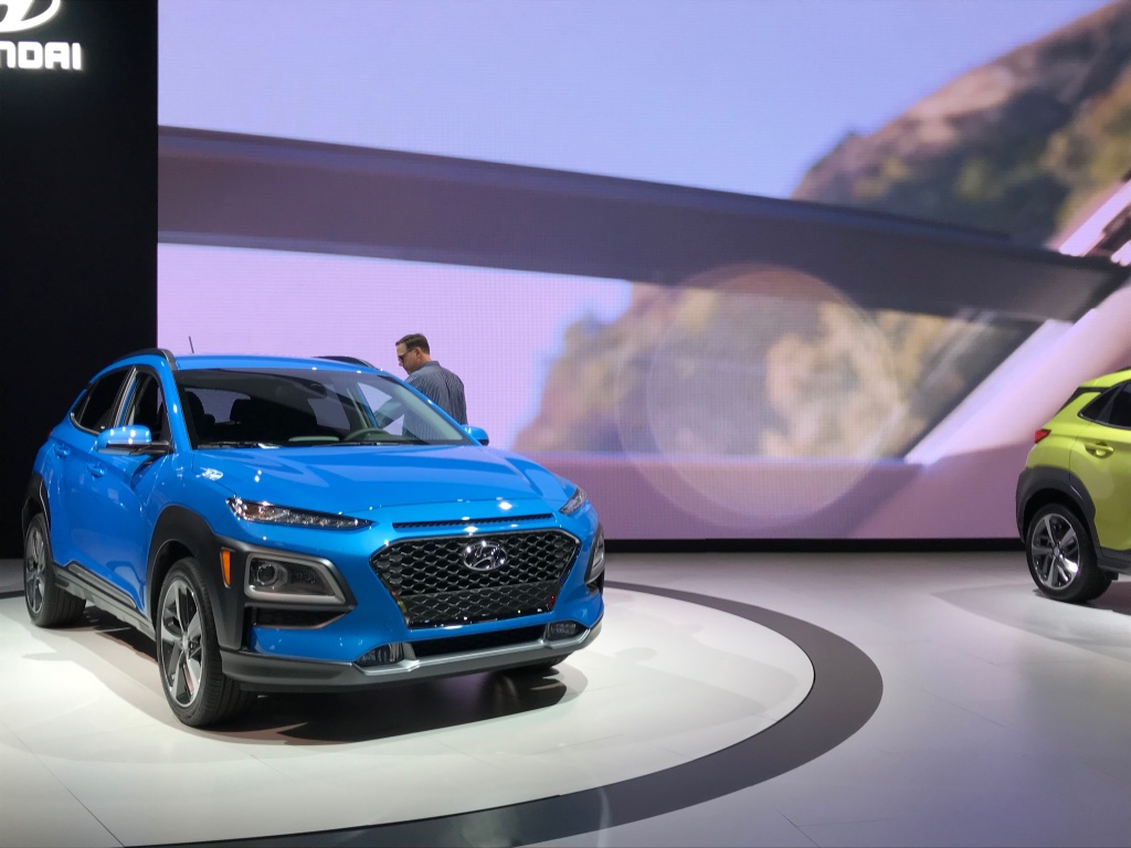 Hyundai's version of the compact crossover - the Kona subcompact SUV.