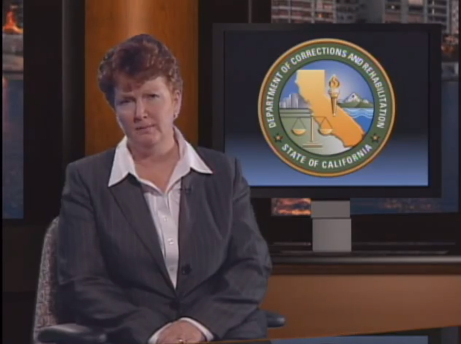 A screen grab of a video showing new Los Angeles County jails chief Terri McDonald.