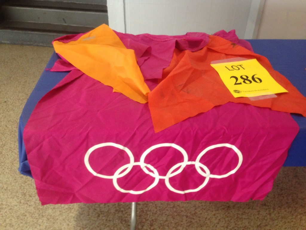 One of the banners from the 1984 Olympics
