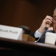 Oklahoma Attorney General Scott Pruitt, President-elect Donald Trump's choice to head the Environmental Protection Agency, testifies during his confirmation hearing.