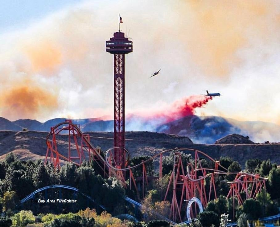 The Rye Fire in Santa Clarita began around 9:30 a.m. Tuesday and quickly spread to more than 1,000 acres.