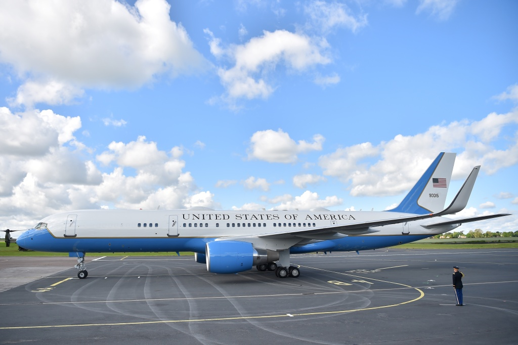 Air Force One transported President Donald Trump and First Lady Melania Trump on their recent trip to the Caen-Carpiquet Airport in Carpiquet, Normandy, France earlier this month.