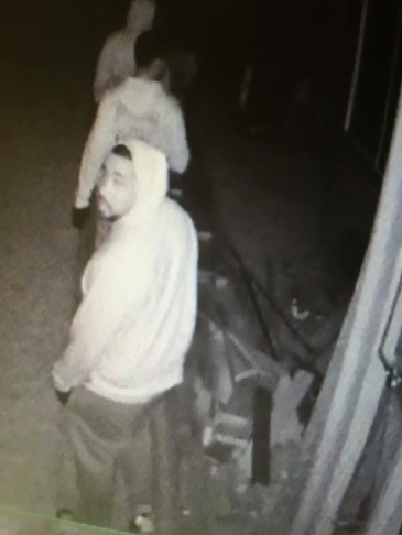 Alhambra police released this security-camera photo of two men involved in a residential burglary. Three men are being sought for a string a residential burglaries that have occurred since April 1, 2016.