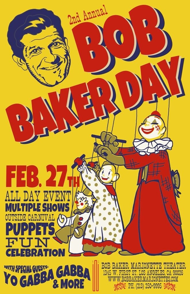 Poster for second annual 'Bob Baker Day'