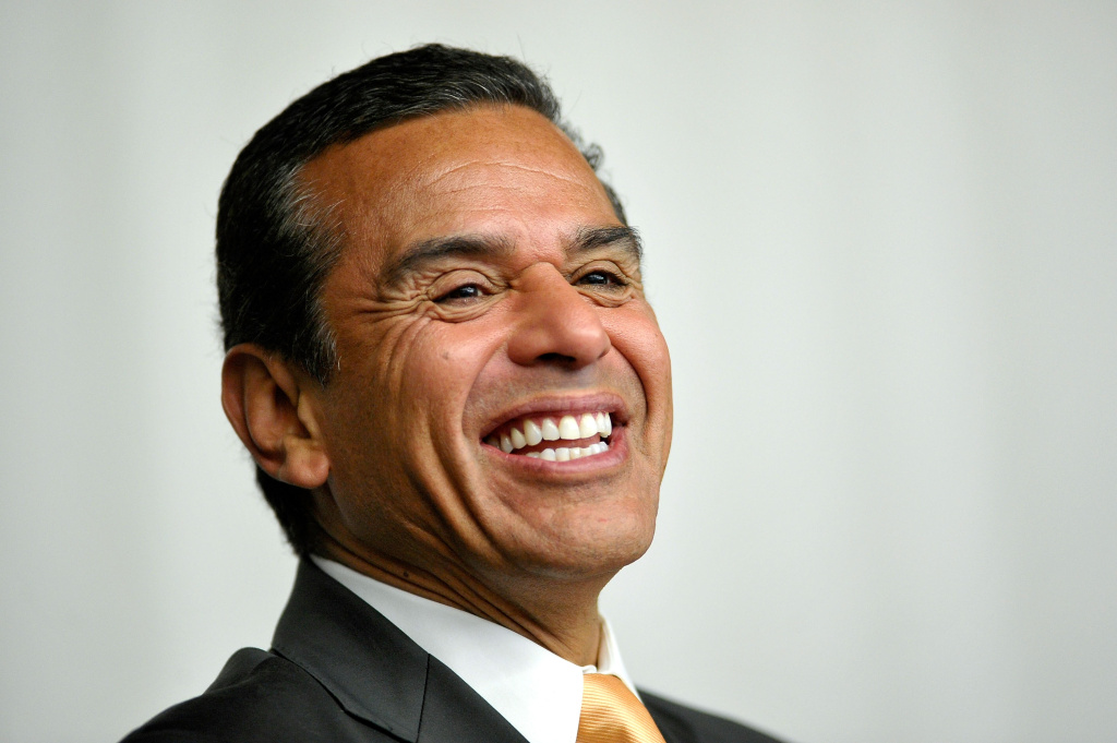A photo of Los Angeles Mayor Antonio Villaraigosa. Villaraigosa spoke with KPCC Thursday, reflecting on Los Angeles' budget and decrease in crime rate for 2011.