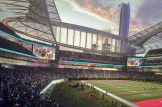 Rendering of the proposed NFL Stadium in downtown Los Angeles